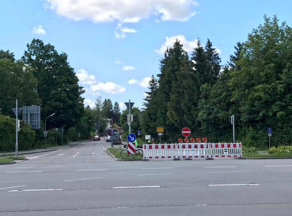 Bauarbeiten Waldbrunnerstr