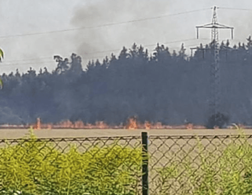 Flächenbrand Grasbrunn