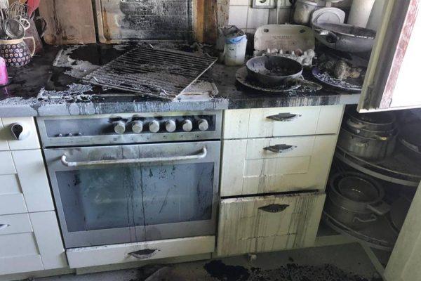 Küchenbrand in Harthausen
