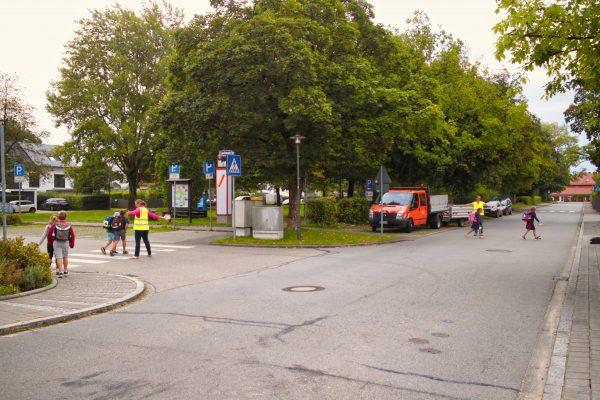 Neuer Schulweg am Rathaus