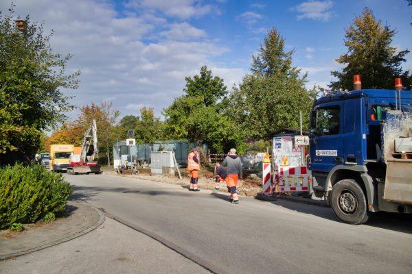 Bauarbeiten Rathaus-Bushaltestelle