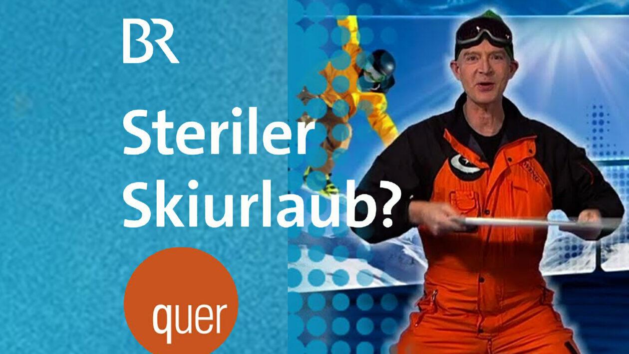 quer -Steriler Skiurlaub