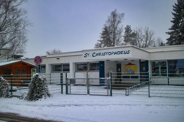 Kindergarten St Christophorus im Winter
