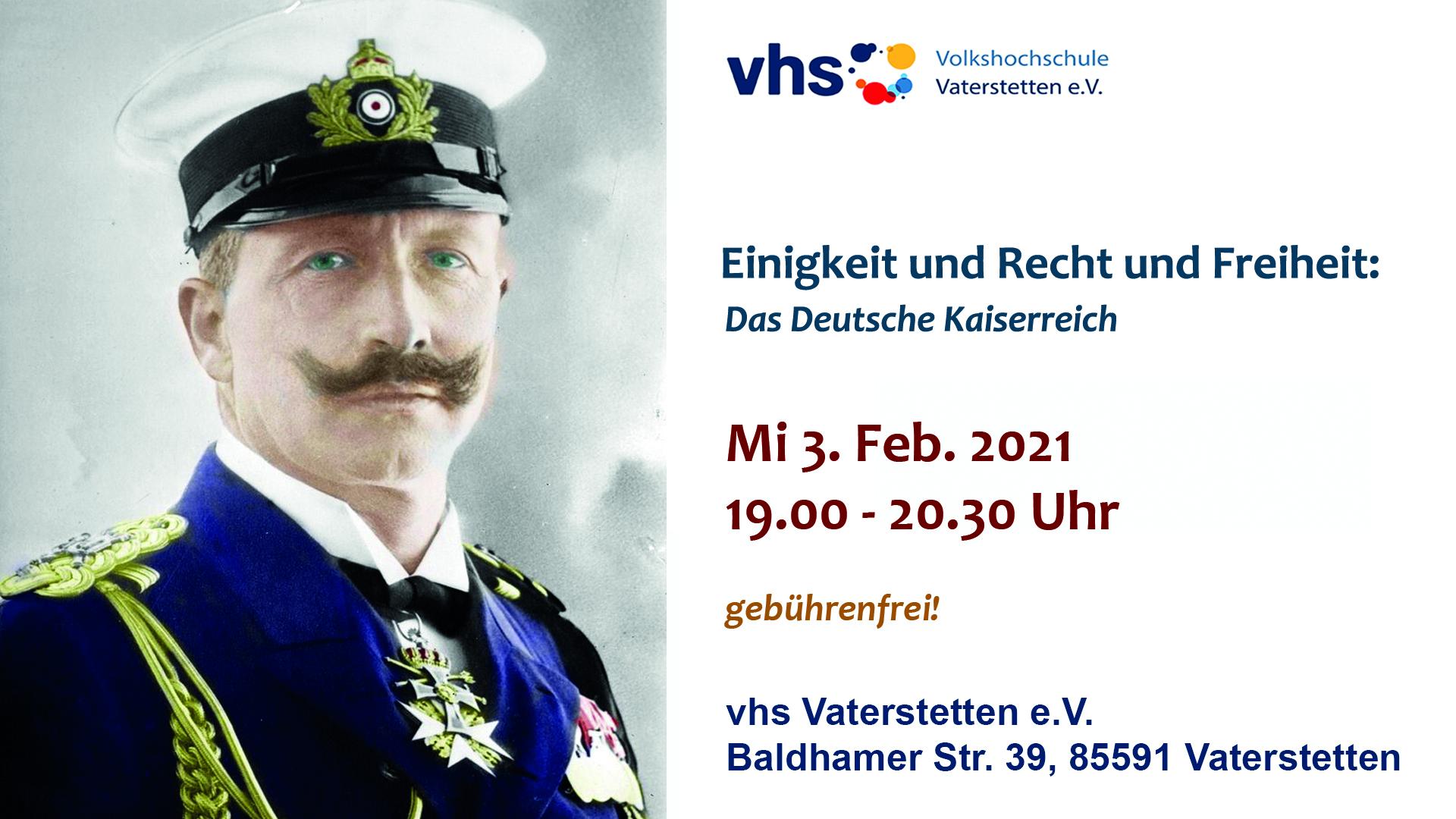VHS-Stream: Das Deutsche Kaiserreich und die Wilhelminische Epoche