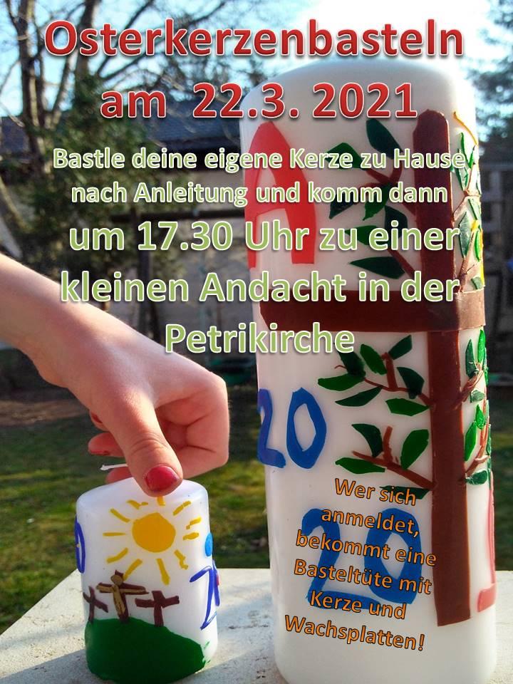 Osterkerzenbasteln 22. März