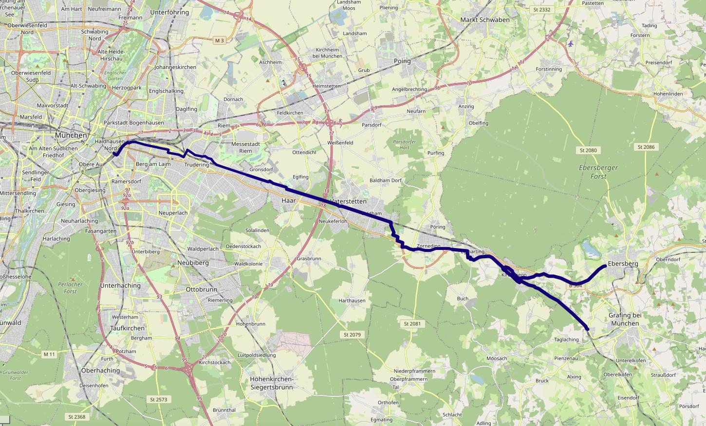 Schneller Radweg Karte