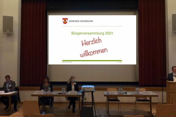 Bürgerversammlung 2021